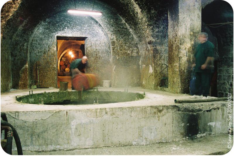 Saponification dans la fabrication du savon d'Alep